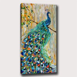 $enCountryForm.capitalKeyWord Australia - Animal Peacock,1 Pieces Home Decor HD Printed Modern Art Painting on Canvas (Unframed Framed) 16x32.