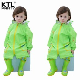 $enCountryForm.capitalKeyWord Australia - KTLPARTY Kids Baby Cartoon Raincoat Children's Waterproof Hooded Raincoat Suit boys girls rainwear poncho