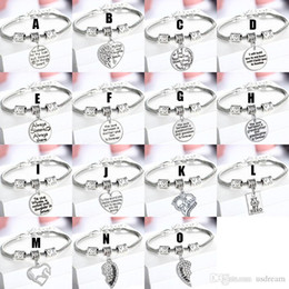 Best Family Christmas Gifts Australia - Family Love Crystal Heart Charm Bracelets Mother Daughter Be My Dad My Hero Mom Horse Charms Bracelet women Best Friends Jewelry Gift 161940