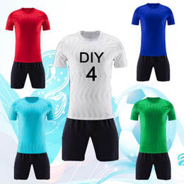 Wholesale soccer groups online – design 2019 Adults and Children Sports Wear Short sleeved Soccer Wear Group Soccer Wear Can Process Names and Numbers and LOGO