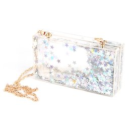 clear acrylic clutches Canada - Designer-2017 New Arrived Clear Acrylic Evening Bag Women Party Clutch Party Box Handbag With Chain Bolsa Purse Luxury Top Quality
