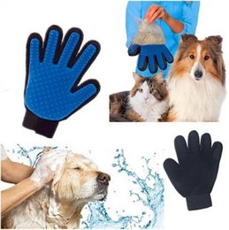 Plastic Dog Baths Australia - Silicone Dog Pet brush Glove Deshedding Gentle Efficient Pet Grooming Glove Dog Bath Cat cleaning Supplies Pet Glove Dog combs 4 Colors
