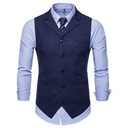 $enCountryForm.capitalKeyWord Australia - 2019 Spring And Autumn New Men's Suit Collar, Single-row Button, Leisure Vest, Large Size Western Armor Coat, Sleeveless Men's Suit Vest