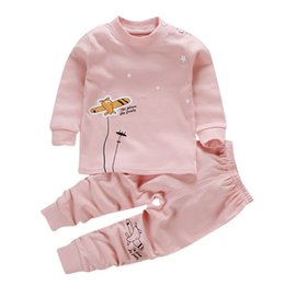 blouse sets Australia - Autumn Baby Clothes Kids Girls Boys Cartoon Print Outfits Set Long Sleeve Blouse Tops+Pants Sleepwear Pajamas boy clothing
