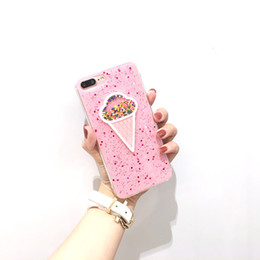 Phone Types Australia - Lady Pink IphoneX Max Phone Case Color Ice Cream Type Trend Epoxy Flash TPU Anti fall Phone Cover For Huawei20 Pro Samsung Note9
