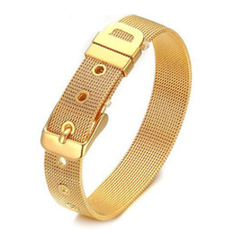 mens mesh band watches Australia - 12MM Mens Stainless Steel Mesh Cable Belt Watch Band Bracelet Buckle Clasp For Women
