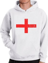 Wholesale England Flag Vintage Style Retro Hoodie Gift Idea