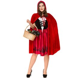 Fancy Red Sexy Dresses Australia - Accessories Cosplay Costumes sexy red riding hood cape cosplay Fantasia carnival lady fancy dress Party adults halloween costume for women