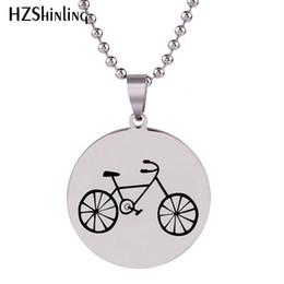 $enCountryForm.capitalKeyWord Australia - 2019 New Bike Rider Stainless Steel Necklace For Cyclist Pendant Handmade Necklaces Art Silver Jewelry Ball Chain HZ7