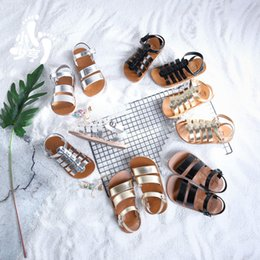 $enCountryForm.capitalKeyWord NZ - Girls Sandals Baby Gladiator Sandals Silver Boys Kids Beach Shoes 2019 Summer Children Fashion Quality Toddler Casual Sandals Y19062001