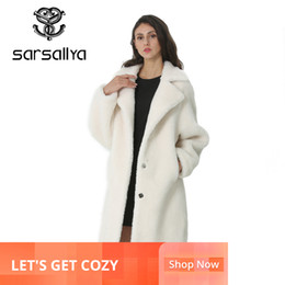 ladies cashmere jackets Australia - Winter Women Wool Coat Cashmere Female Long Coat Blends Woolen Elegant Autumn Jacket For Ladies Thick Warm Fur Clothes Girl 2019MX191009