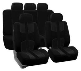 El asiento transpirable universal cubre el amortiguador negro de cuatro estaciones del conjunto completo de 5 asientos para el carro Suv del coche