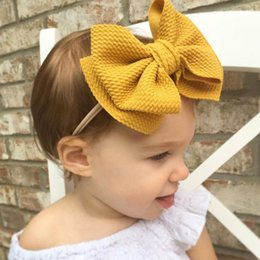 $enCountryForm.capitalKeyWord Australia - Baby Headband Newborn Headwear for Girls Turban Infant Haarband Baby Bows Headdress Nylon Bow Hair Accessories