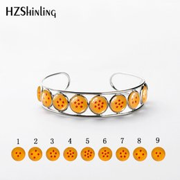 $enCountryForm.capitalKeyWord NZ - New Arrival Dragon Ball Star Butterfly Bangle Dragon Ball inspired Glass Cabochon Stainless Steel Bracelet Jewelry Lady Gift