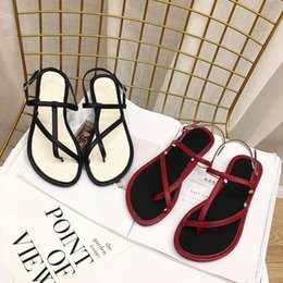 $enCountryForm.capitalKeyWord Canada - Crystal2019 Literature Time Leisure Sweet T-shaped Chalaza Toe Rome Comfortable Flat Bottom Sandals Woman