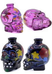 painting glasses 2019 - Hot Multi Colors Skull Shape Colorful Painting Glass Bottle Smoking Accessories for Smoking New Arrivals GR179 cheap pai