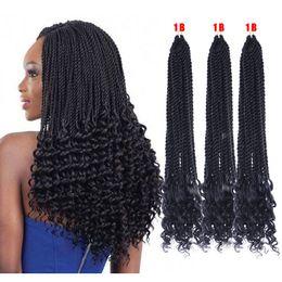 $enCountryForm.capitalKeyWord Australia - 18'' Sythentic Pre-Twisted Flashy Curl Braiding Hair Extensions For Black Women 100%kanekalon and toyokaon Braids Hair Bulks Factory Vendors