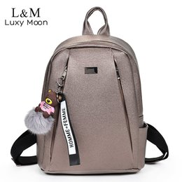 Gold Backpack Style Australia - Fashion Gold Leather Backpack Women Black Vintage Large Bag For Female Teenage Girls School Bag Solid Backpacks Mochila Xa56h