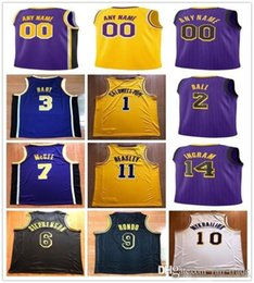 d75a8e22a87b Custom 2019 Basketball Jersey Los Angeles LeBron Lonzo James Ball Brandon  Kyle Ingram Kuzma Rajon Michael Rondo Beasley New Men Jerseys