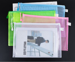 a4 b5 Canada - A4 B5 Document Folder File Zipper Bags Plastic Wallets Folder Zipper File Bag Pencil Case Makeup School Office Supply Storage Extra Thick