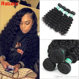 sew human hair NZ - Peruvian Deep Wave Virgin Hair Weave Bundles Deals Rabake Deep Wave Peruvian Unprocessed Human Hair Extensions Cheap Sew in Weave Bundles