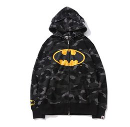 Cheap nylon hoodies online shopping - Cheap New winter Hoodie Men s A Bathing Shark Hooded Hoodie Coat Camo Full Zip Jacket Camouflage Hoodies