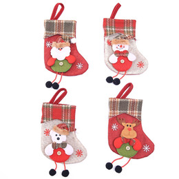 $enCountryForm.capitalKeyWord Australia - Christmas Stocking Mini Sock Candy Gift Bag Pocket Santa Claus Pendant Xmas Tree Hanging Decor For Home Festival Party Ornaments