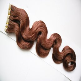 piano tape hair extensions 2019 - 40pcs body wave Skin Weft Tape on Hair 100g Tape in Human Hair Extensions Adhesive Remy Brazilian Hair cheap piano tape