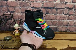 spring shoes discount NZ - 02High Quality New Discount Kids 6 baby Basketball Shoes unc gold black red kid 6s Boys Sneakers Children Sports low trainers size 28-35