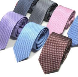 Pure Wool Suits Australia - Men's tie 7cm business suit pure color wave idea Korean tie jacquard polyester