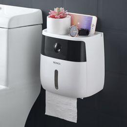 Großhandel Lf82003 Kreative Kunststoff Bad Halter Wand Papier Aufbewahrungsbox Toilettenpapierspender SH190628
