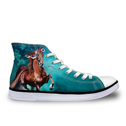 $enCountryForm.capitalKeyWord Australia - Customized Vintage Crazy Horse Printed Women Vulcanized Shoes for Lady Casual Women High Top Canvas Shoes Female Lace up