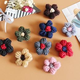 $enCountryForm.capitalKeyWord NZ - South Korea Mori Department Small Fresh Hundred Wool Flower Brooch Korean Version Autumn and Winter Retro Sweater Simple Cute Brooch