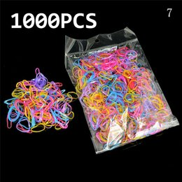 $enCountryForm.capitalKeyWord Australia - About 1000pcs box Rubber Hairband Rope Silicone Ponytail Holder Elastic TPU Hair Holder Tie Gum Rings Girls Hair Accessories