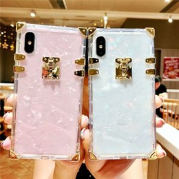 bling phone designs NZ - New Luxury design Square Clear TPU Case For iPhone 11 Pro Max Shockproof Soft Silicone Bling Phone Cover For iPhone X XS Max XR 6 7 8 Plus