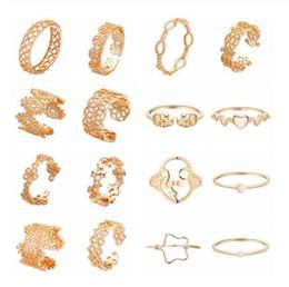 $enCountryForm.capitalKeyWord Australia - Indian Female Golden Woman Rings Retro Hollow Flower Craft Skull Love Heart Charm Boho Adjustable Finger Toe Women Ring Gift