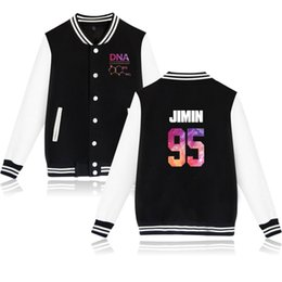 Discount kinder jacket - New BTS DNA Series Jacket Kinds Of Fashion Style Men Women Casual Baseball Uniform