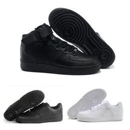 100% authentic 7bf8e 9980b 2018 Nike Air Force 1 Leather AF1 neue klassische 1 weiß schwarz niedrig  hoch geschnitten männer frauen sport turnschuhe skateboard schuhe ein  laufschuh ...