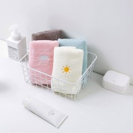 $enCountryForm.capitalKeyWord Australia - 75x34CM New Design Thick 100% Cotton Towels Weather Symbol Embroidered Bath Face Towel for Adults Quality Gift Towels