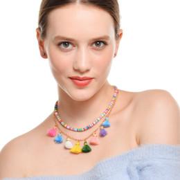 Exotic Pendants Australia - European and American Fashion Jewelry Exotic Ethnic Style Handmade Accessories Retro Hit Color Tassel Accessories Multi-layer Necklace