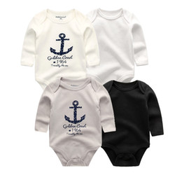 $enCountryForm.capitalKeyWord Australia - 4 Pcs lot Winter Long Sleeve Baby Bodysuit Cotton Baby Jumpsuit Baby Boy Girl Clothes Y19061201