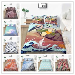 Solid pink quilt online shopping - New Products Fashion D Printing Bedding Sets Conch And Seashell Quilt Cover Best Gift Bedline Single Double King Size