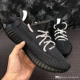 kanye west glow dark shoes Canada - New Hot Black 3M Mens Womens Running Shoes Yeezreel Yecheil Citrin Cloud White Glow in the Dark kanye West Designer Trainers Sports Sneaker