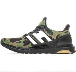boost pack 2019 - Shop Ultra Boosts Camo Pack Ultraboost Super Bowl Collection Running Shoes Camo Green Black 1st Tennis Apes Sneakers Men