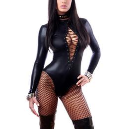 7b8baa8ab98 Sexy Lingerie Women Hot Erotic Baby Dolls Dress PVC Leather Lingerie Sexy  Black Club Babydoll Underwear Sexy Costumes