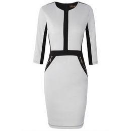$enCountryForm.capitalKeyWord UK - Fashion Plus Size Front Zipper Women Work Wear Elegant Stretch Dress Charming Bodycon Pencil Midi Spring Business Casual Dresses