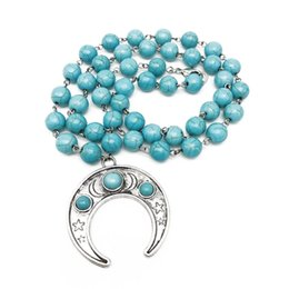necklaces pendants Australia - Free Shipping Fashion Natural Turquoise Stone Necklace, Trendy Pendant Turquoise Stone Necklace For Women, Holiday Necklace