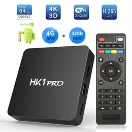 Mini tv android 4.4 online shopping - 4GB DDR4 Android TV Box HK1 Pro TVbox G G Amlogic S905X2 Quad Core Smart Mini PC G G Wifi Bluetooth HS K Set Top Boxes