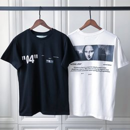 18fw Luxury Unisex USA Mona Lisa 04 High Quality T-shirt Fashion Hip Hop  Men Women Clothes Cotton T Shirt Casual Tee b82bf6091