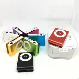 Card mp3 sd online shopping - Mini Clip MP3 Player with usb cable earphone Plastic box Packaging without Screen Support Micro TF SD Card Music Players